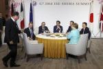 """Renzi al G7: """"Parlare di emergenza migranti è fuori luogo"""""""