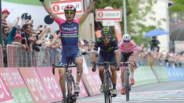 ciclismo, maglia rosa, tappa, Diego Ulissi, Vincenzo Nibali, Sicilia, Sport