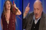"""""""Guarita dal cancro senza chemio"""", la frase della Brigliadori fa infuriare Costanzo: la lite in tv - Video"""