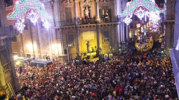 Festino, santuzza, Sicilia, Domani in Edicola