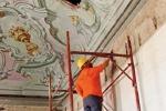 Lavori di restauro a Palazzo Butera