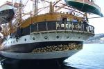 Nave Vespucci al porto di Trapani, centinaia di visitatori
