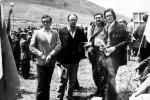 Il primo maggio a Portella della Ginestra, da sinistra Mario Genco, Salvo Licata, Filippo Galici, Alberto Stabile e Bebo Cammarata