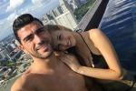 Graziano Pellé e Viktoria Varga, tifosi d'accordo: è la coppia più glamour di Euro 2016 - Foto