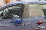 L'auto dentro la quale era rimasta intrappolata la piccola