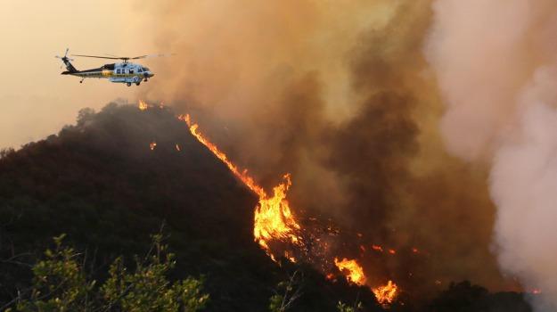 fiamme, incendio, star hollywood, vigili del fuoco, Sicilia, Mondo