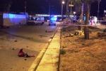 La via Nicoletti ieri sera, subito dopo l'incidente