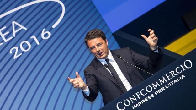confcommercio, premier, Matteo Renzi, Sicilia, Politica