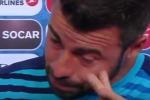 Andrea Barzagli piange in tv: nessuno ci ricorderà - Video
