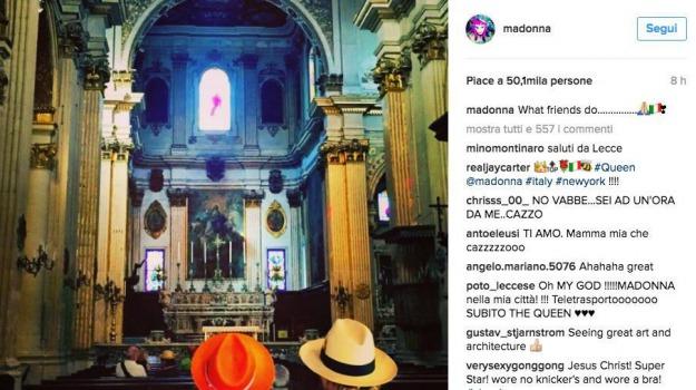 foto, instagram, Madonna, Sicilia, Società