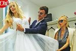 Nozze a settembre, Martina Stella prova il suo abito da sposa - Foto