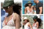 In pizzo bianco a Saint Tropez: Naomi Campbell diva in Costa Azzurra