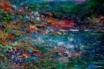Un colore per ogni isola delle Eolie, in mostra i quadri di Dimitri Salonia - Foto