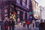 Via Atenea, 2016, 38x55 acquarello su carta di cotone