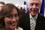 Ministro Boschi alla Convention Dem, il selfie con Clinton è subito virale