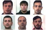 Misero a segno due rapine in banca, nomi e foto dei sei arrestati nell'Agrigentino