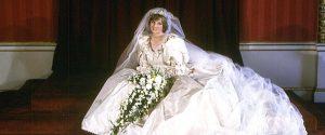 Lady Diana il giorno del matrimonio con il principe Carlo il 29 luglio 1981