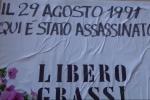 Il delitto di Libero Grassi 25 anni dopo, le immagini della commemorazione - Video