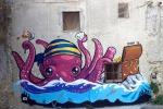 Licata si colora con le opere di Pao, l'artista milanese regala alla città un murales