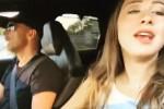 Aurora Ramazzotti canta in macchina insieme a papà Eros: l'inedito duetto
