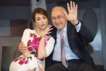 Pippo Baudo e Chiara Francini
