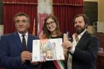 Il presidente del Consiglio Comunale Salvatore Orlando, la baby sindaco Elisa Buscemi e l'assessore Andrea Cusumano