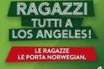 """Brad is single, """"Ragazzi, tutti a L.A."""": la risposta di Alitalia alla Norwegian"""