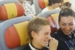 Sorpresa in volo per la campionessa Bebe Vio, per lei canta... Jovanotti - Video