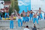 La Darsena si tinge di azzurro, Corvaia: «Emozione incredibile»