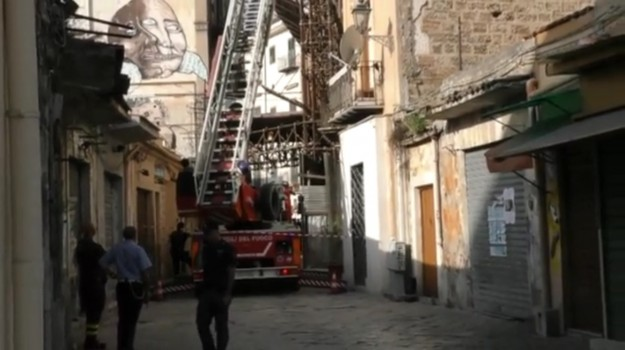 centro storico, crollo, palazzina, Palermo, Cronaca