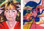 Le opere esposte dalla Ong Migraine Action - Foto Ansa