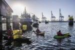 Greenpeace impedisce lo scarico di olio di palma a Rotterdam