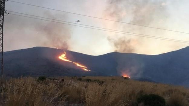 incendio san vito, Trapani, Cronaca
