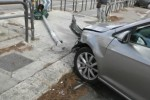 Incidente in viale Regione Siciliana, le immagini delle auto coinvolte