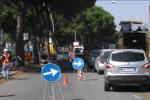 Limiti di velocità in viale Regione, le immagini del cantiere per eliminare le radici - Video