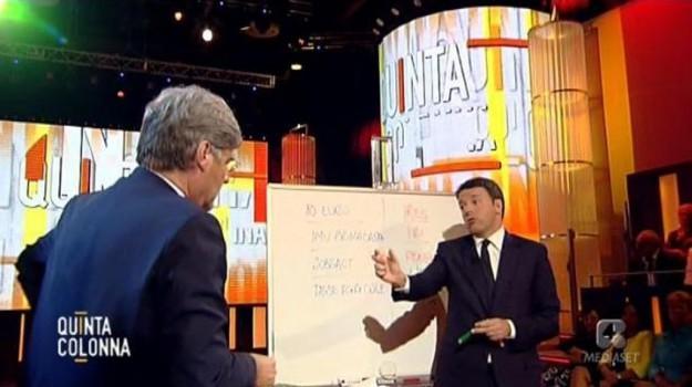 patto della lavagna, pensioni, tasse, Matteo Renzi, Sicilia, Politica