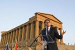 """Renzi sigla il patto per il Sud alla Valle dei Templi: """"Il G7 in Sicilia contro i pregiudizi"""""""