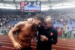 Francesco Totti e Radja Nainggolan - Fonte Ansa