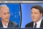 """""""Otto e mezzo"""", Travaglio a Renzi: sei come Fonzie. Il premier: tu non fare Ralph Malph"""