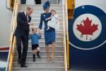 La famiglia reale vola in Canada, primo viaggio con George e Charlotte