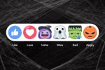 Zucche e fantasmi: per Halloween, Facebook traveste le reactions