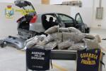L'auto con la marijuana scoperta a Pozzallo