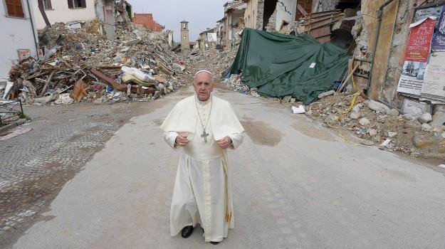 papa, sisma, terremoto, Papa Francesco, Sicilia, Cronaca