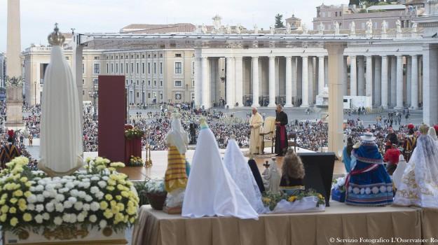 Città del Vaticano, giubileo mariano, papa, Papa Francesco, Sicilia, Cronaca