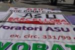 All'Ars protesta di precari degli enti locali e Asu - Video