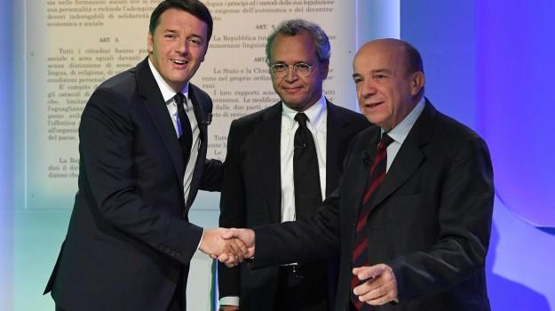 italicum, referendum, tv, Gustavo Zagrebelsky, Matteo Renzi, Sicilia, Politica
