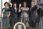 Il premier Matteo Renzi e la moglie Agnese a Washington - Fonte Ansa