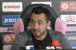 """A Cagliari De Zerbi si gioca tutto: """"Dobbiamo entrare in campo col coltello fra i denti"""" - Video"""