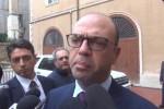 Il ministro dell'Interno Angelino Alfano a Palermo