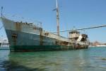 Nave del 1911 per il trasporto ecologico in restauro a Trapani